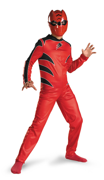 Power Ranger Costume - Costumes For All Occasions DG6930L Power Ranger Red Quality 4-6