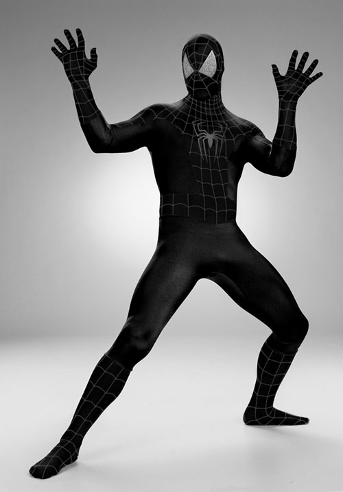 Spiderman Costumes - Costumes For All Occasions DG6949 Spiderman Black Rental Quality