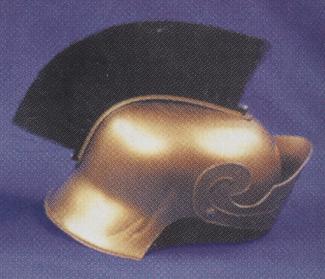 Costumes For All Occasions 95505BK Roman Helmet Gd W Black Brush
