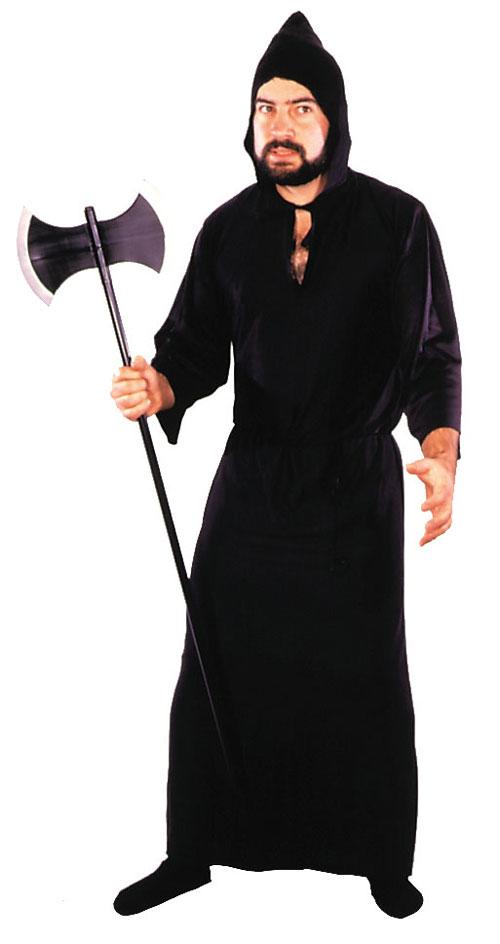 Costumes For All Occasions AA04BK Robe Econo Masquerade Black