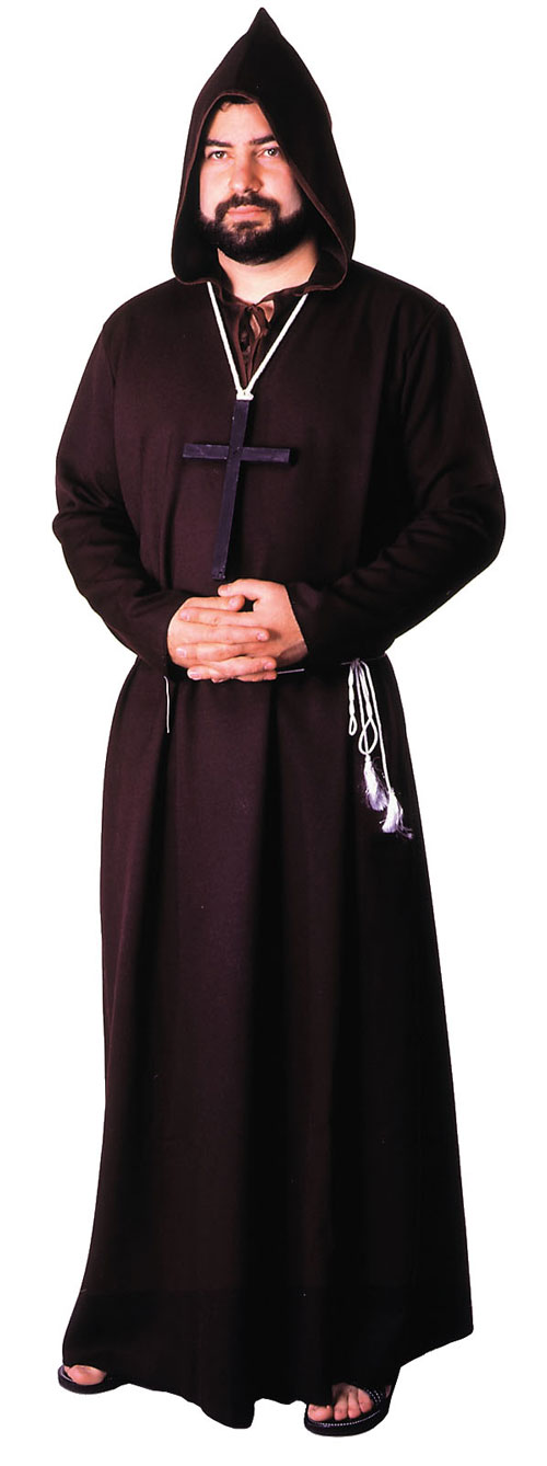 Costumes For All Occasions AA05BK Robe Monk Quality Black