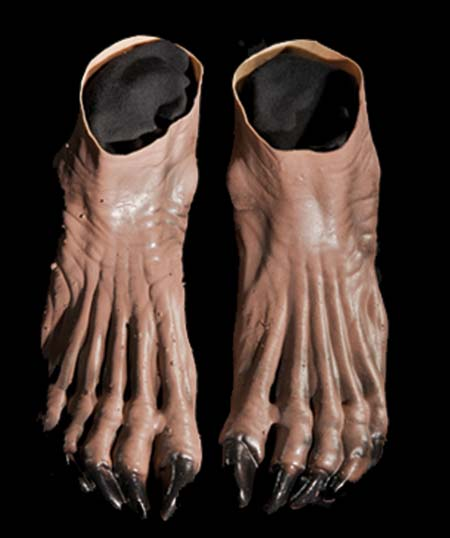 Costumes For All Occasions DU981 Werewolf Feet Brown