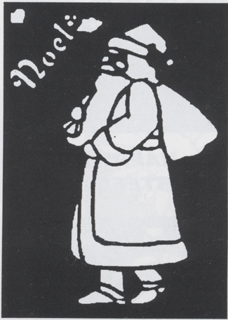 Costumes For All Occasions FP159 Stencil Father Chrstms Brass