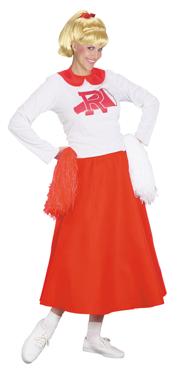 Cheerleader Costume - Costumes For All Occasions FW101205 Grease Rydell Cheerleader Plus