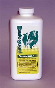 Durvet Intervet Safeguard Wormer Suspension White 1000 Milliliter - 001-809751