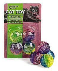 Ethical Cat Shimmer Balls 4 Pack - 2824