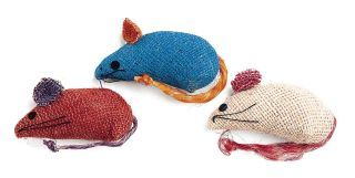 Ethical Cat Burlap Mice 3 Pack - 2090