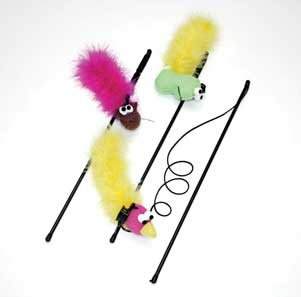 ETHICAL CAT 671226 Cat Feather Boa Wand-2520