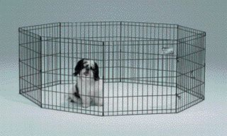 Midwest Container 8 Panel Exercise Pen Black 24x24 Inch - 550-24 BCI04202