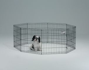 Midwest Container 8 Panel Exercise Pen Black 24x30 Inch - 552-30 BCI04203