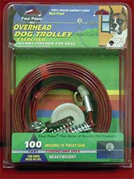 Four Paws Products Heavy Trolley Silver 100 Feet - 84071