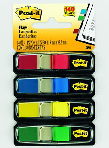 3M Company MMM6834 Post-It Smaller-Size Flags Standard Colors 4 Per Pack at Sears.com