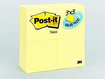 3M Company MMM65424VAD Post-It Notes Value Pack 3 X 3 Canary Yellow 24 Pads