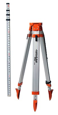 AccuLine Pro 40-6350 Universal Tripod and Grade Rod Kit