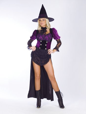 Witch Costumes - Costumes For All Occasions FW121394SD Witch Burlesque Sm Medium