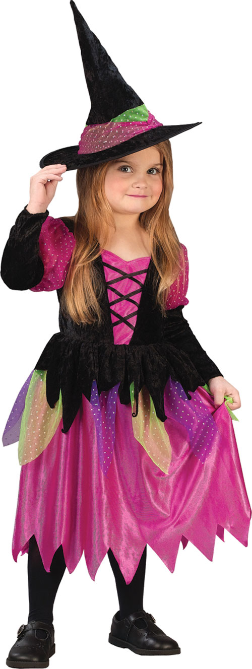 Witch Costume - Costumes For All Occasions FW1460 Rainbow Witch 3T To 4T