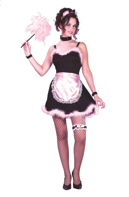French Maid Costume - Costumes For All Occasions FW1650 French Maid Pink Teen