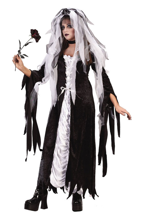 Costumes For All Occasions FW1654 Bride Of Darkness Teen