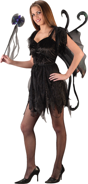 Midnight Fairy Costume - Costumes For All Occasions FW1695 Midnight Fairy Black Teen