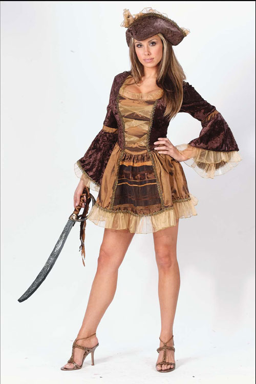 Victorian Costumes - Costumes For All Occasions FW5008ML Pirate Sassy Victorian Medium Large