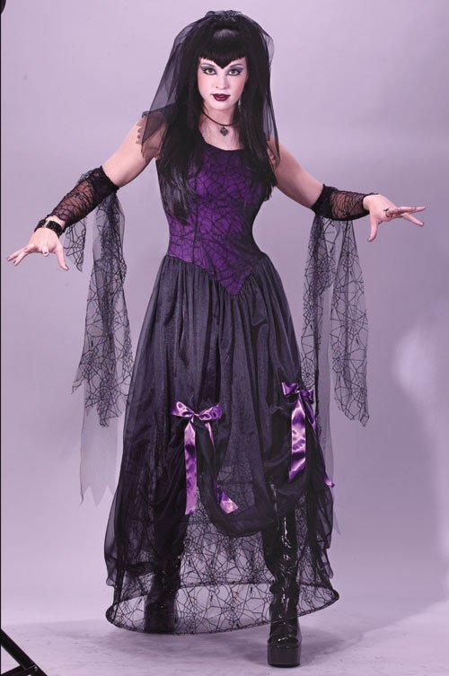 Spider Costume - Costumes For All Occasions FW5102SD Goth Spider Princess Sm Medium