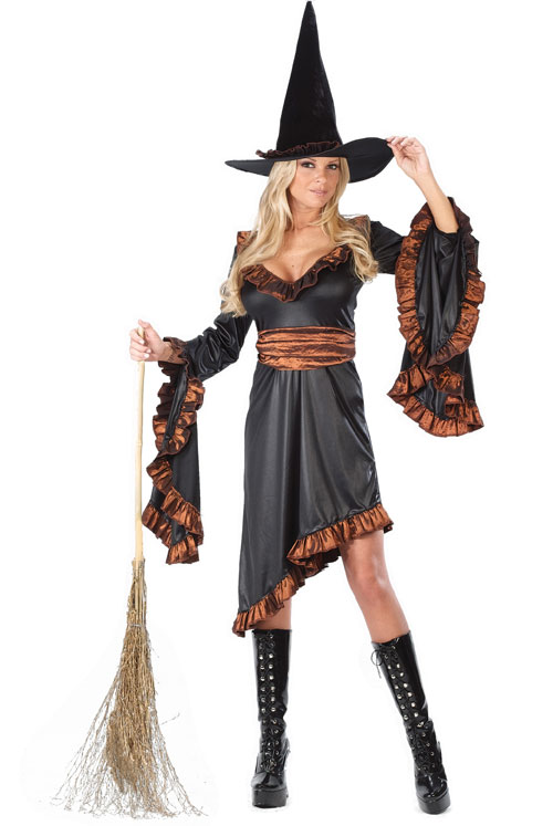 Witch Costume - Costumes For All Occasions FW5125SD Witch Ruffle Sm Med