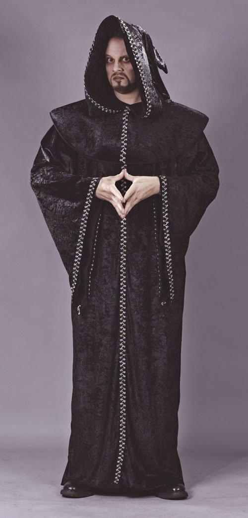 Priest Costume - Costumes For All Occasions FW5440 Goth Priest Robe Hood Collr