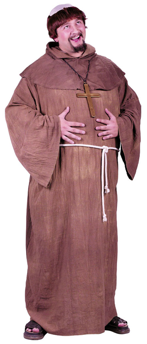 Plus Size Costumes - Costumes For All Occasions FW5745 Medieval Monk Plus Size