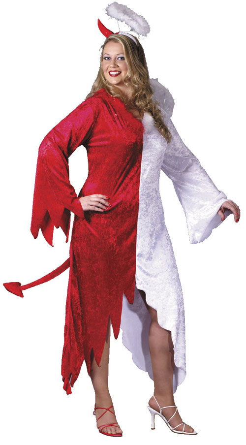 Angel Costume - Costumes For All Occasions FW5754 Angel Devil Plus Size Adult