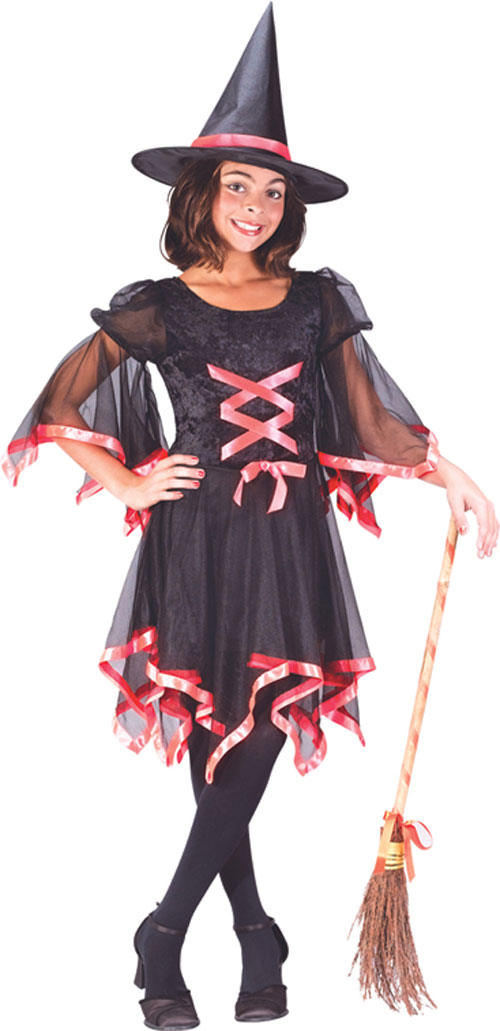 Witch Costumes - Costumes For All Occasions FW5965LG Ribbon Witch Child Large