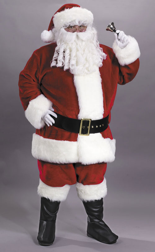 Santa Suits - Costumes For All Occasions FW7502 Santa Suit Prem Pl Red Lrg