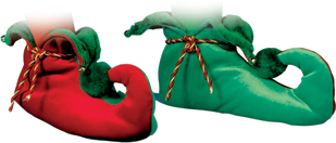 Elf Costumes - Costumes For All Occasions FW7552LG Elf Shoes Velour Medium Large