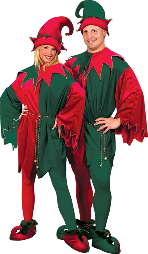 Elf Costume - Costumes For All Occasions FW7553 Elf Set Velvet Hat Tunc Shoes