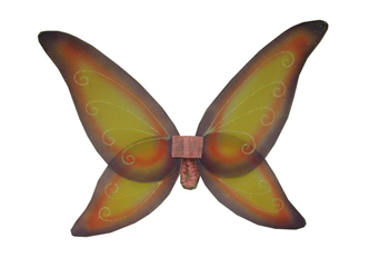 Costumes For All Occasions FW8100FYW Wings Fairy Pnk Prpl Ylw