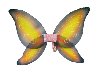 Costumes For All Occasions FW8111FYW Wings Child Fairy Pink Yellow