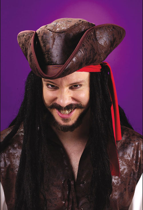 Tricorn Hat - Costumes For All Occasions FW8181P Hat Pirate Tricorn Deluxe