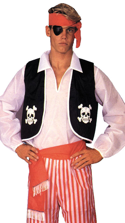 Pirate Costume - Costumes For All Occasions AB16 Pirate Kit Adult 1 Size