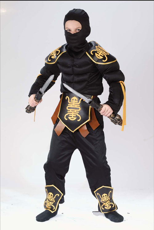 Ninja Costumes - Costumes For All Occasions FW8700LG Ninja Warrior Muscle 12 To 14