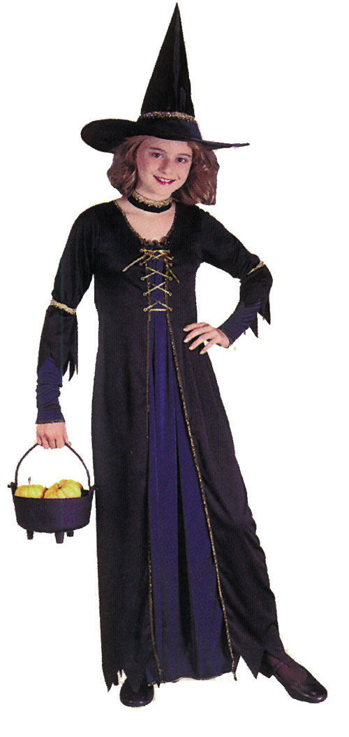 Victorian Costumes - Costumes For All Occasions FW8742LG Victorian Witch Child Lrg