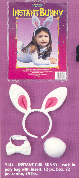 Bunny Costumes - Costumes For All Occasions FW9141 Bunny Instant Child