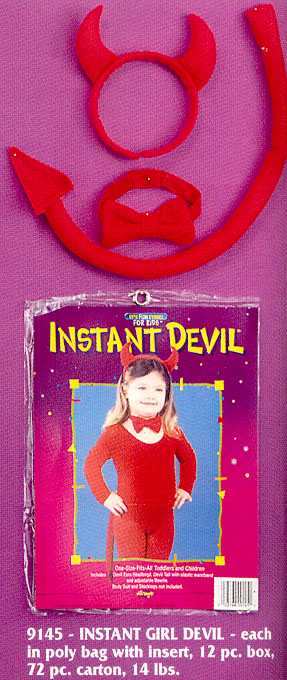 Devil Costume - Costumes For All Occasions FW9145 Devil Instant Child