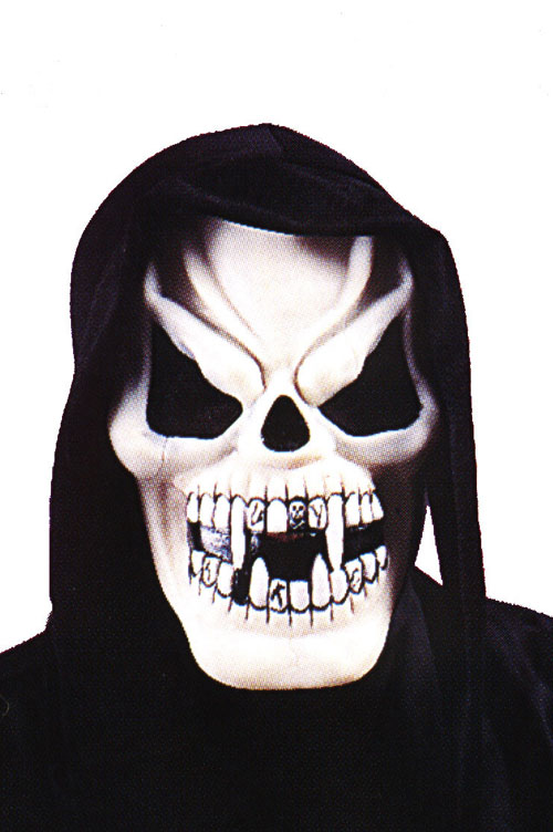 Vampire Costumes - Costumes For All Occasions FW9205VP Vampire Skull W Shroud Mask