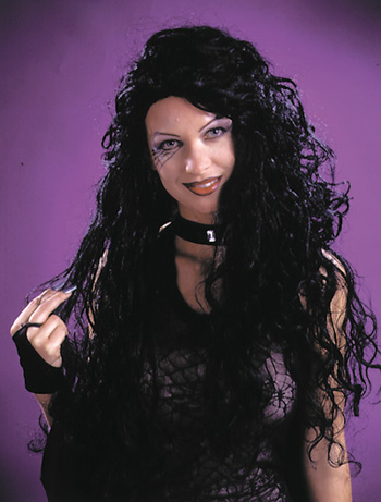 Costumes For All Occasions FW9231BK Wig 30 Inch Curly Black