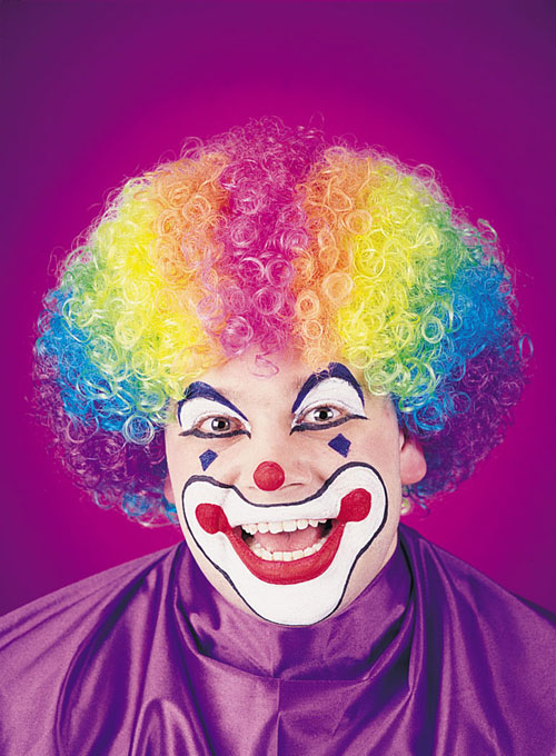 Clown Costume - Costumes For All Occasions FW9236 Wig Rainbow Clown
