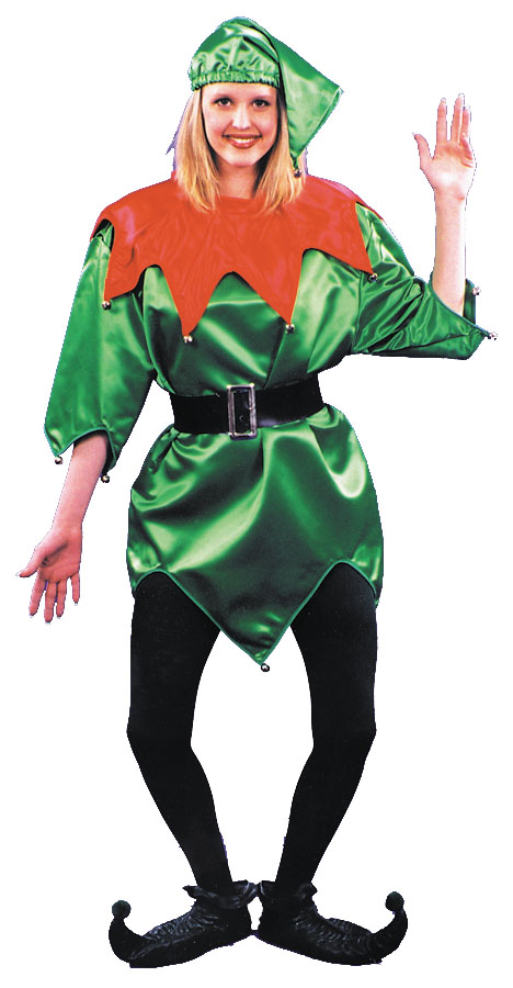 Elf Costume - Costumes For All Occasions AC142 Elf Costume Green W Bells 1 Size