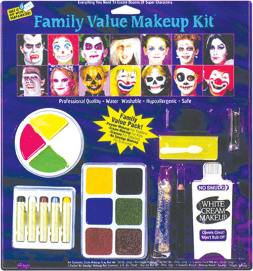 Costumes For All Occasions FW9543F Festive Family Makeup Kit MRRS8103
