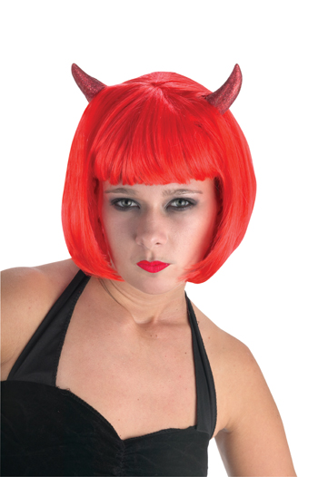 Devil Costume - Costumes For All Occasions FWH92386 Devil Shimmer W Horns Wig He