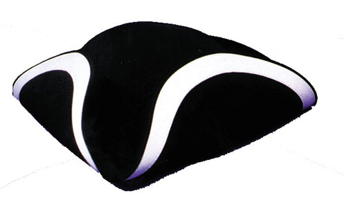 Tricorn Hats - Costumes For All Occasions GA25LG Tricorn Hat Qual Large