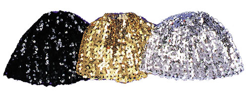 Cloche Hats - Costumes For All Occasions GA67BK Cloche Hat Sequin Black