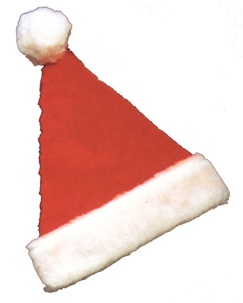 Santa Hat - Costumes For All Occasions GC118 Santa Hat Deluxe Plush